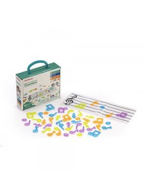 Notas Musicais Translúcidas - 96 Peças