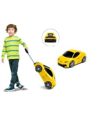 Mala Viagem / Trolley Escolar Criança - Lamborghini Amarela