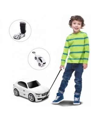 Mala Viagem / Trolley Escolar Criança - Maserati Branca